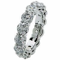 Fine Handmade Platinum GIA Certified 5.89ct Diamond Wedding Eternity Band Ring
