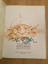 SIGNED by Ari Berk The Runes of Elfland Brian Froud  HC 1st/1st + Pic
