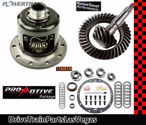 "Powertrax Grip LS Posi Pkg GM Chevrolet 8.6"" 30 Spline 4.56 Gears Timken Pro"