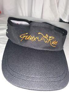 Headsweat Geux Run Black And Orange Light Embroidered Adjustable Running Visor