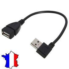 Cable Adaptateur USB 2.0 Male vers USB Femelle Coudé angle 90° DROITE Right 20cm