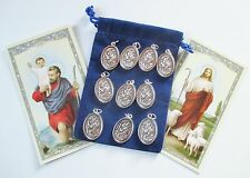 Wholesale Lot 10 New St. Christopher Medals for Re-sell, Catholic, Christian