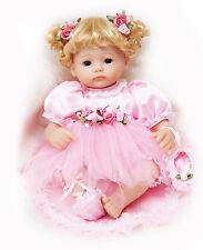 16-Inch Dolls Pink Lovely Baby Girl for Children Vinyl Ballet Xmas Gift Cosette