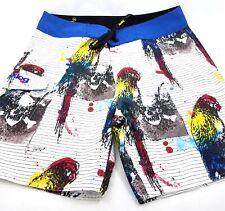 65afa44ac76 Analog Mens Board Shorts Swim Trunks Swimshorts Size 34 Multi Color Parrot  Skull