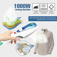 Protable 1000W Electric Steam Iron Handheld Fabric Laundry Steamer Brush Travel