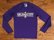 Orlando City SC MLS adidas Ultimate Tee CLIMALITE Purple Shirt Men's Small