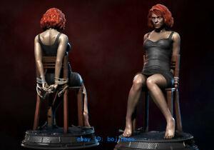 1/12 Black Widow Scarlett Resin Figure Unpainted Resin Model Kits Female Soldier