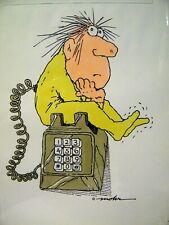 Vintage William Mohr Color Cartoon Print Illustration Mid Century