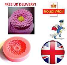 Flower Lotus Sugarcraft Silicone Mould Fondant Cake Topper Modelling Tools Mold