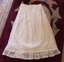 "Vintage ""U Turn of California"" Womens sz 7/8 White Sheer over Lace Ruffled Skirt"