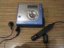 Sony MD USB Walkman NH700 HI / Player / Recorder  Minidisc  (blau ) Kabel Remote
