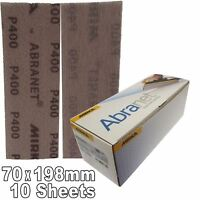 Mirka Abranet 70x198mm P400 Grit 10x HookNLoop Dust Free Sanding Abrasive Strips