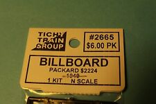 "2665 tichy group Billboard Kit "" Packard $2224 "" 1940'S N Scale"