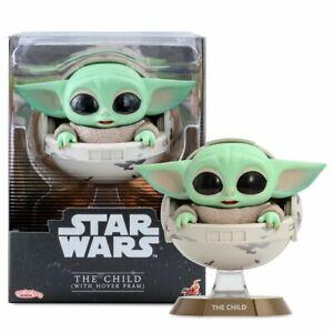 "Cosbaby Star Wars Mandalorian - The Child w/Hover Pram 4"" Figure Grogu Baby Yoda"
