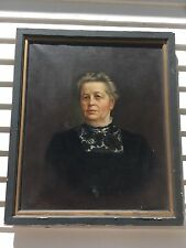 Large Antique Portrait Oil/Canvas Signed Chamberlain 1910