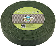 Country Brook® 1 1/2 Inch Olive Drab Green Heavy Polypro Webbing, 25 Yards