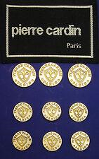 9 VTG PIERRE CARDIN FLEUR DE LIS LIGHT GOLDEN BLAZER BUTTONS GOOD USED CONDITION