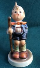 """Hummel Goebel Figurine Tmk3 - """"Little Hiker"""" #16 2/0 Boy W/ walking stick Euc"""
