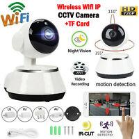 720P CCTV Night View Wireless Wifi IP Security Camera Baby Pet + TF Card