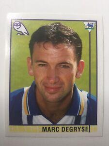 Merlin Premier League 1996 Football Sticker 338 Marc Degryse Sheffield Wednesday