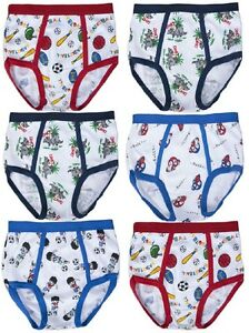 Boys Soft Cotton Briefs Cartoon Designs CDWC Wholesale Lot NEW Underwear S~XL