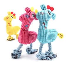 Funny Pet Cat Dog Puppy Chew Squeaker Squeaky Plush Sound Giraffe Training Toys#