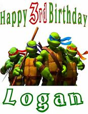 Personalized Teenage Mutant Ninja Turtles Birthday Party Gift T Shirt Name On T