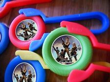 12 FORTNITE Disk SHooters~ birthday party favor treat, award, FORT NIGHT