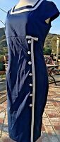 EMAGE Blue AUDREY HEPBURN Vintage 1950s Style Dress Size 12 BRAND NEW WITH TAG