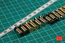 4 Sets M4 x 6/8mm Brass Decorative Screws Bolts For DIY Folding Knife Hilt