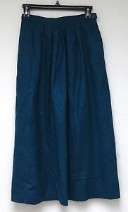 vtg Pendleton TEAL SKIRT Size 6 deadstock new WOOL 80s USA Made Town & Country
