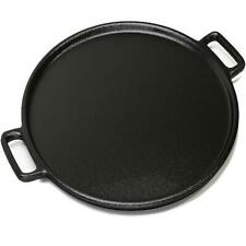 Cast Iron Pizza Pan Pancake Frying Skillet Kitchen Cookware Baking Grill Plate