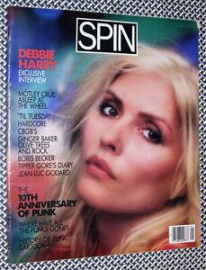 1986 SPIN Magazine, BLONDIE / DEBBIE HARRY, PUNK, CBGBs,'Til Tuesday, Hardcore