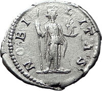 GETA 199AD Rome Silver Authentic Ancient Roman Coin Nobilitas Palladium  i61493