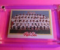 1978 TOPPS Baseball #424 Red Sox TEAM CARD NrMt (High Grade!) Yastrzemski Rice
