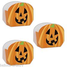 8 Naranja Calabaza de Halloween Espeluznante Regalo Fiesta Saquear Cajas de Regalo Papel favor