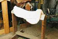 White Half Pad w Pommel Roll 1/2 Engel Sheepskin Saddle Blanket Medium 3310M