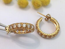 ORECCHINI A CERCHIO IN ORO 18KT CON CUBIC ZIRCONIA - 18KT SOLID GOLD EARRINGS