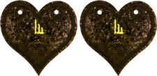 SHWINGS Black Sparkle Heart wings for shoes official designer Shwings NEW 12101