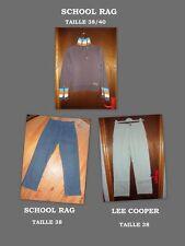 SCHOOL RAG Lot   jeans 38 pantalon beige LEE COOPER  sweat   marron  T2 femme