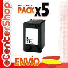 5 Cartuchos Tinta Negra / Negro HP 21XL Reman HP Deskjet D2460
