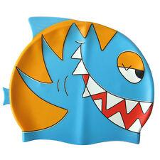 Ishka Children Kids Silicone Swim Swimming Cap Hat Chopper New