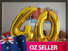 """Gold Foil Helium number balloon - 40th Brithday Party 40"""" inch / 100cm AUS STOCK"""