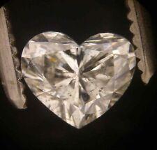GIA Cert 0.54ct HEART cut Diamond K I-1