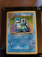 Blastoise Base Set Shadowless Card