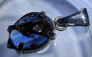 SAPPHIRE PENDANT-NATURAL UNTREATED AUSTRALIAN BLUE CAB 1.65CT STUNNING