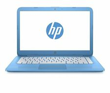 "HP Stream 14-ax000na 14"" Laptop, Celeron N3060, 4GB RAM, 32GB eMMC, Aqua Blue"