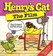 HENRY'S CAT - THE FILM - BOB GODFREY/STAN HAYWARD - PB 1984 1st Edn  -  VG