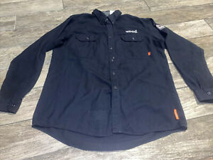 IT Series Bulwark Button Down Black FR FIRE RESISTANT Shirt Long Sleeve men's XL