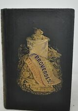 GRANDVILLE Cent proverbes H. Fournier, 1845 reliure romantique E.O